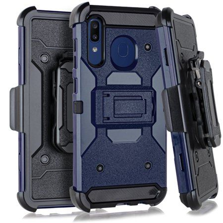 MUNDAZE Samsung A20/A30/A50 Case Cover Blue Techfix Belt Clip Kickstand Hybrid - Walmart.com