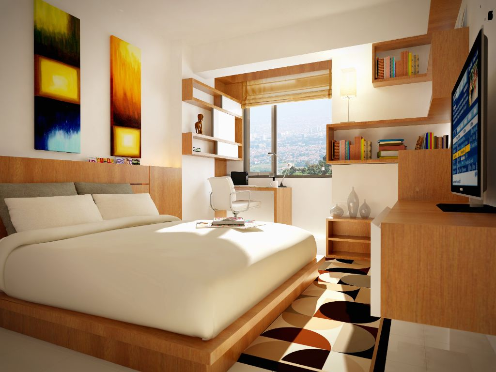 Nice Interior Design Of A Studio Apartment In Bandung Indonesia Interior Design Interior Design Projects Cool Rooms