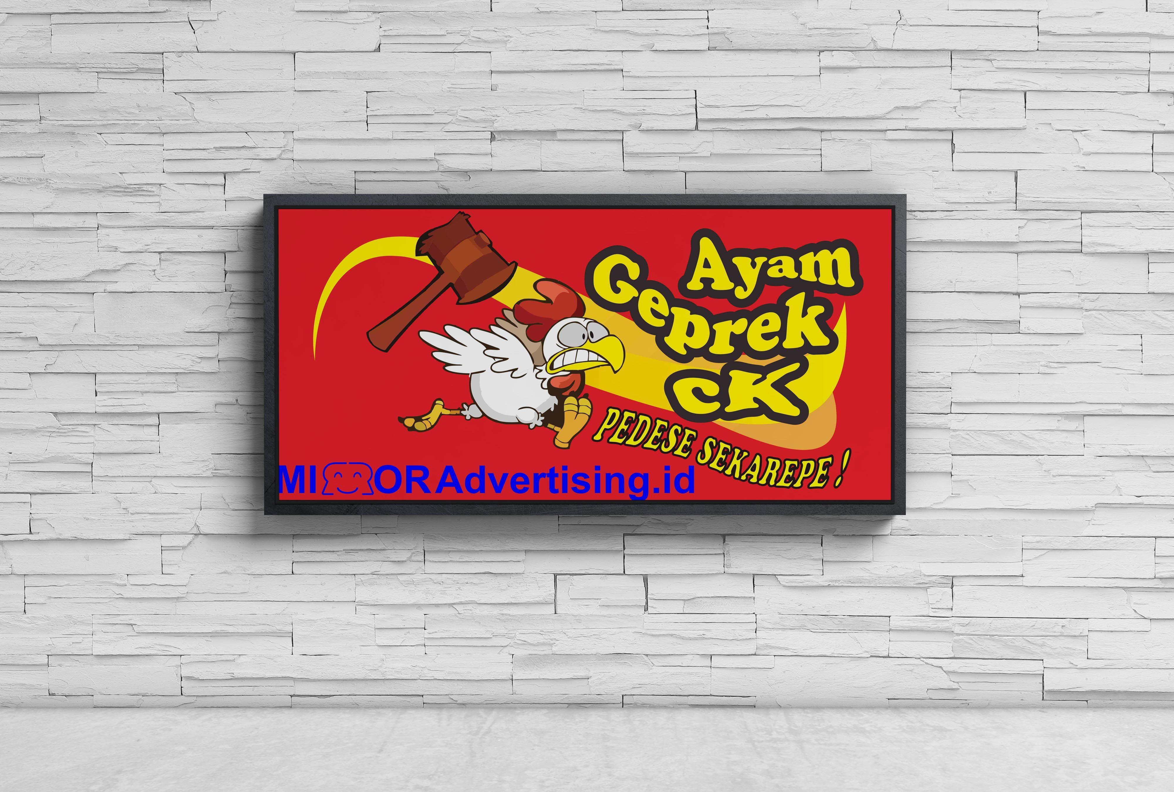 Banner Ayam Geprek Ck Ayam