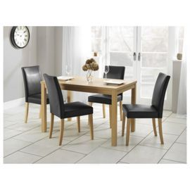 Buy Banbury 4 Seat Dining Table Set Oak Effect From Our Chair