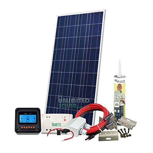 Unlimited Solar 160 Watt 12 Volt Sunvic Rv Solar Panel Kit Click Image To Review More Details This Solar Panels For Home Rv Solar Panels Solar Panel Cost