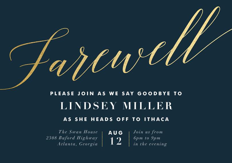 Final Farewell Invitations In Blue Greenvelope Com Farewell Party Invitations Party Invite Template Farewell Invitation