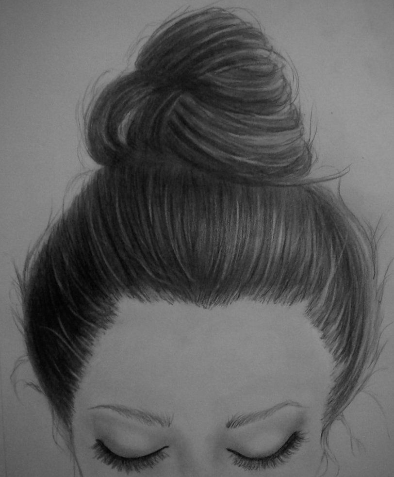 How To Draw A Girl With A Messy Bun Hair Messybuns