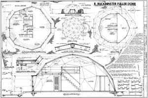 HABS drawing of Fuller Dome Home