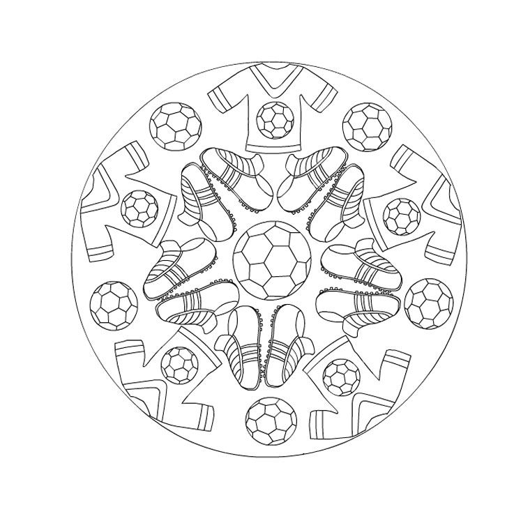 Wonderful Mandala De Foot A Imprimer #1: Coloriage Mandala De Foot