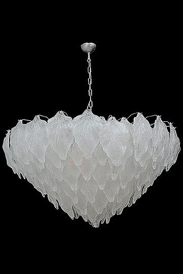 Vintage Italian Murano Glass Drops Chandelier Attributed To Vistosi