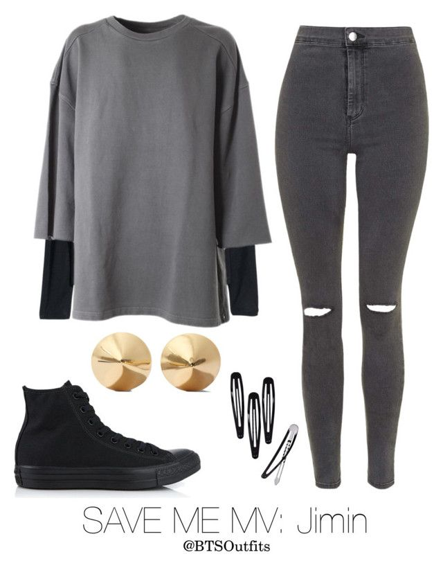 Save Me MV: Jimin by btsoutfits on Polyvore featuring adidas Originals, H&M, Topshop, Converse and Eddie Borgo
