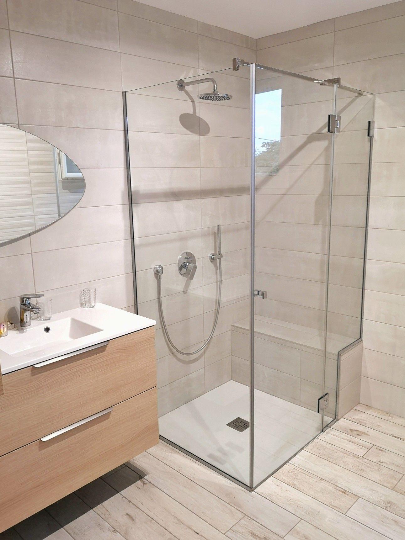 Douche sur mesure  Douche en verre, Paroi de douche, Douche