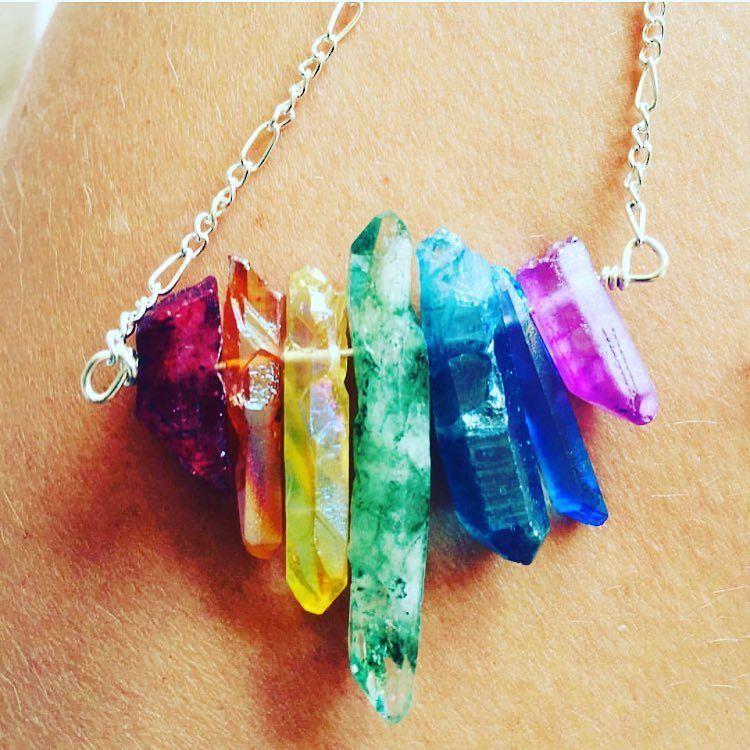 Loving this colorful chakra crystal necklace by @bohemianmoonartt It reminds us of a rainbow! #etsy #bestofetsy #etsyshop #etsyfinds #etsyau #etsyuk #handmade #handmadeisbetter #etsyseller #etsyhunter #madewithlove #shophandmade #shopsmall #shoplocal #smallbusiness #makersgonnamake #supportlocal #handmadeloves #craftsposure #chakra #crystal #gemstonejewelry #gemstone #necklace #instajewelry #rainbow by beautifulthingsmagazine