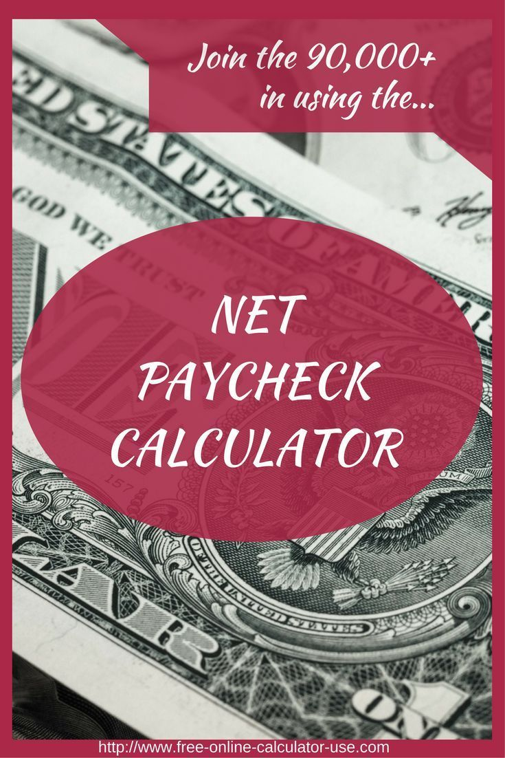 Free online paycheck calculator calculate take home pay