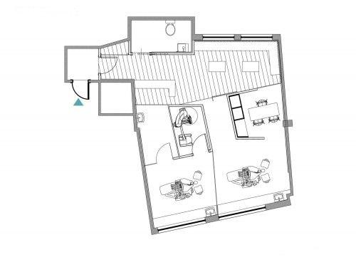 Small Dental Clinic Floor Plan Irregular Room Idea Dental Clinic Dental Office Design Dental Office