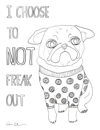 Free Pug Coloring Sheet At Chickenpants Com Coloring Pugs