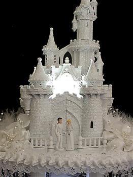 Cinderella Castle Coach & Horses Wedding Cake Topper | Disney castle ...