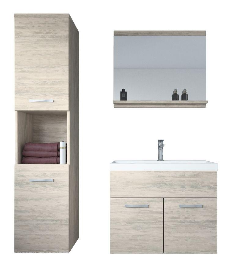 Meuble De Salle De Bain Montreal 60 Cm Lavabo Artwood Armoire De Rangement Meuble Lavabo Evier Meubles Badplaats In 2019 Bathroom Lighting Bathroom Mirror