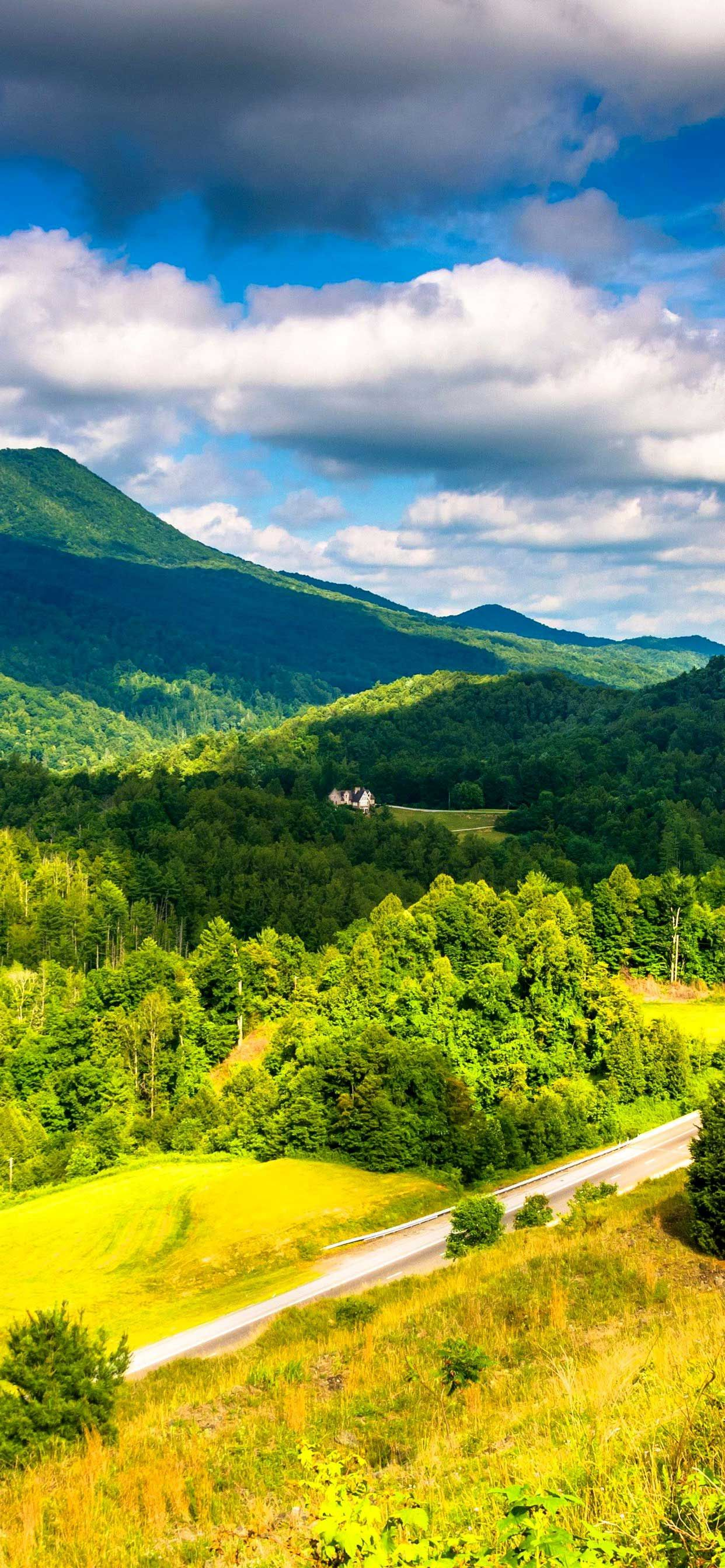 appalachian k k wallpaper usa mountains forest clouds
