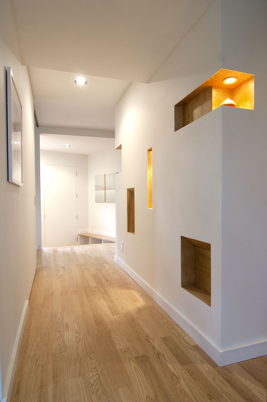 3 horizontal niches in walls hallway google search - Wall Niches Designs