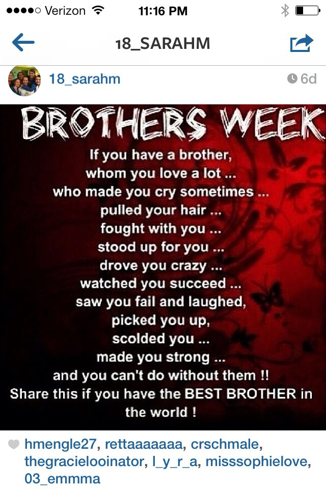 Love My Brother Brother Quotes Older Brother Quotes I Love My Brother