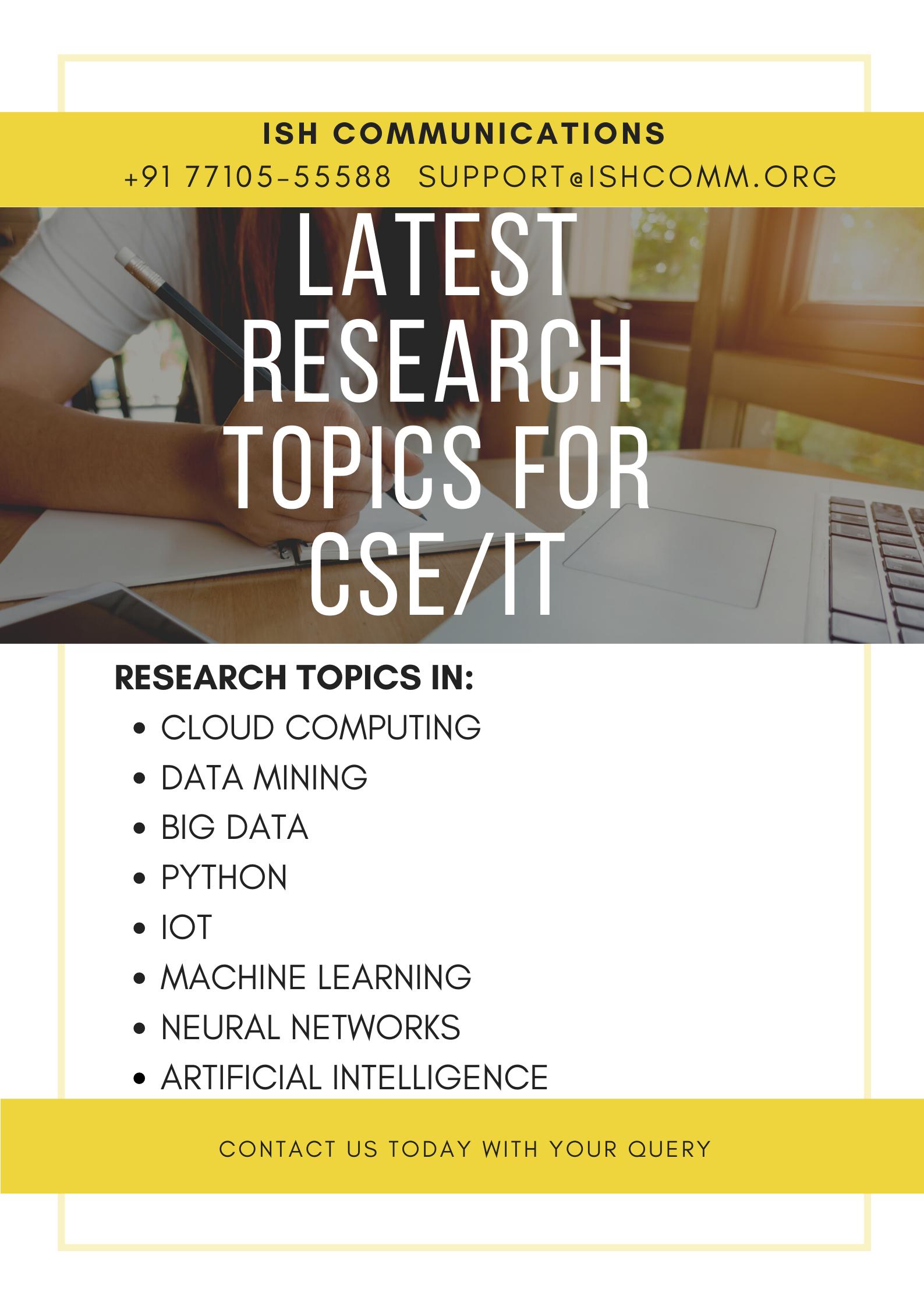 Cse It Latest Research Topic Data Mining Machine Learning Cloud Computing Dissertation Topics