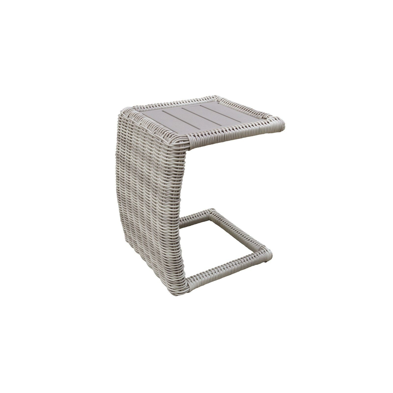 Coast Side Table Silver Tk Classics Outdoor Patio Furniture Resin Wicker