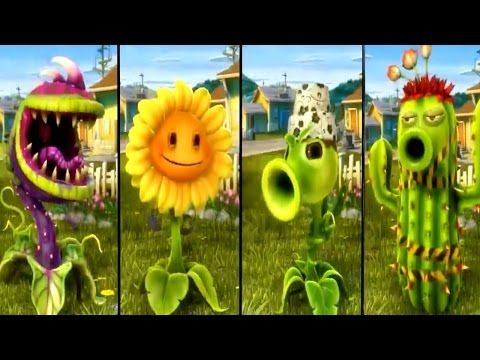 Plants Vs Zombies Garden Warfare All Plants Unlocked All Characters Complete Pc Xbox One Youtube Plants Vs Zombies All Plants Zombie