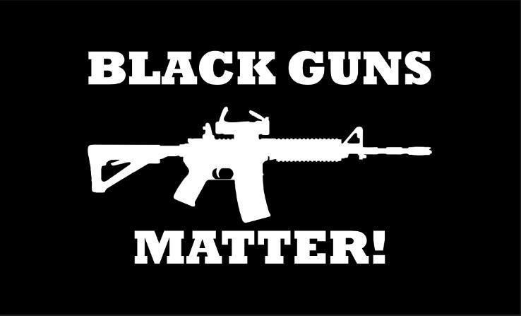 Black Guns Matter Flag