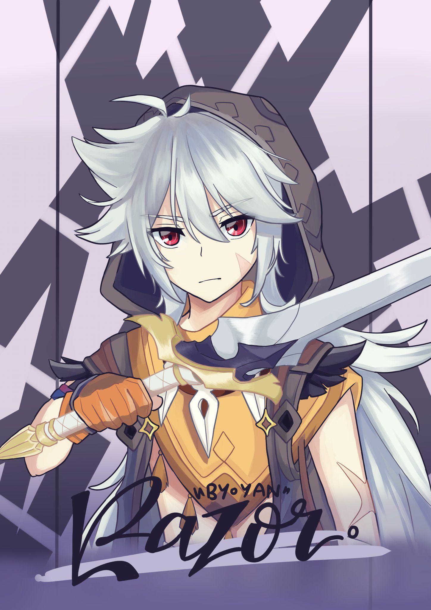 Pin By Mango On Razor Genshin Impact Anime Wolf Girl Anime Anime Maker