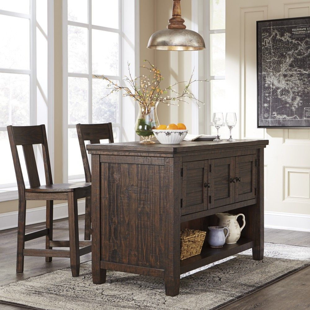 Trudell RECT Counter Table W Storage 2 Barstools