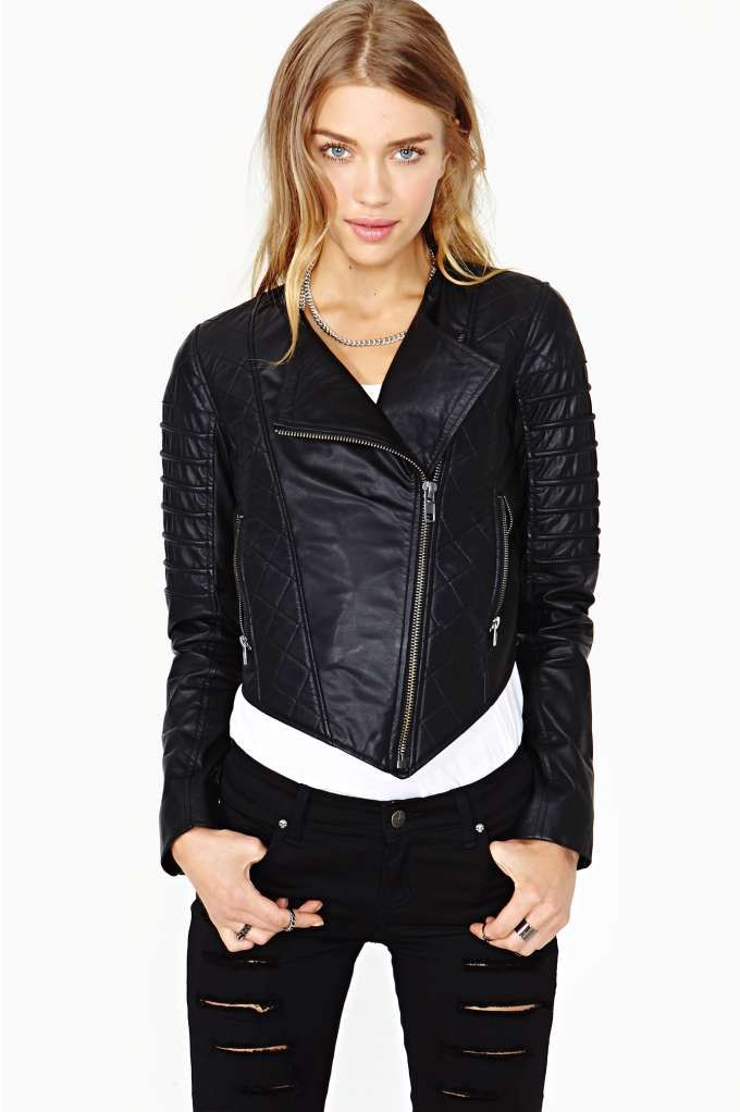 Nasty Gal Quilted Leather Moto Jacket   Fashion   Pinterest ... : quilted leather moto jacket - Adamdwight.com