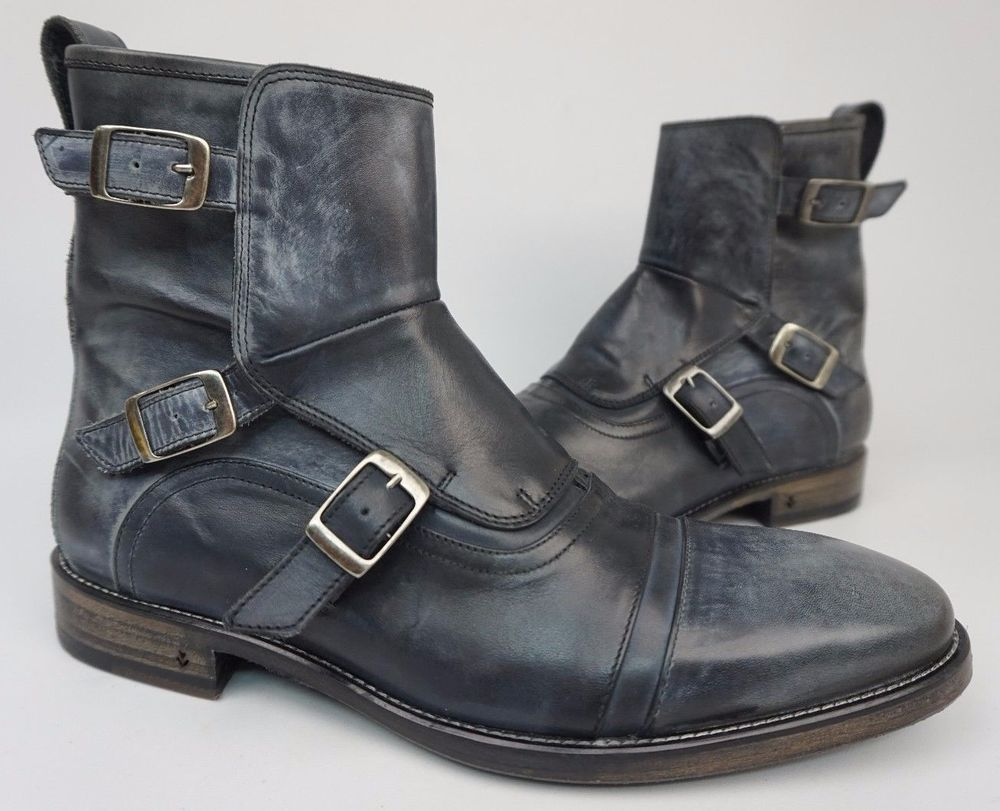 John Varvatos Ellis Moto Boot Black Size: 9 9h9icdTl