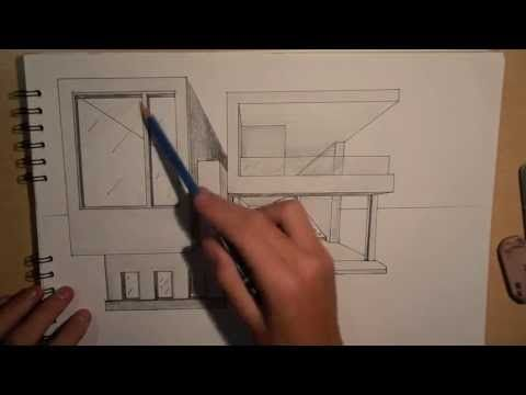 Architectural Drawings Of Modern Houses art & architecture | design #2 - drawing a modern house (1-point