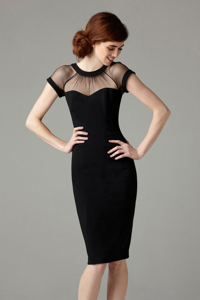 fed67d88 Maggy London Black Illusion Dress Review | POPSUGAR Fashion ...