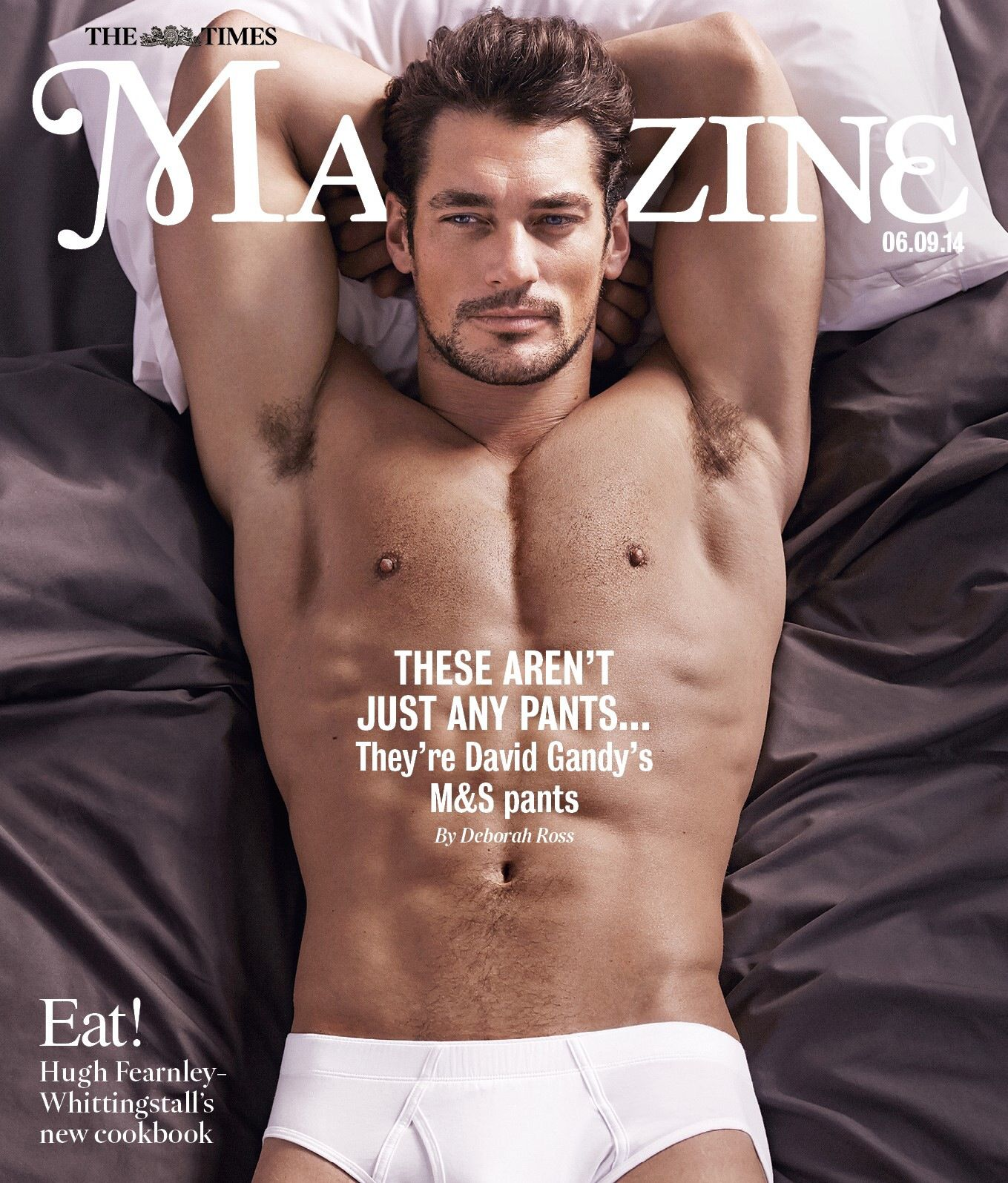 for the longest I thought this said Amazing instead of Magazine.  David Gandy eye candy