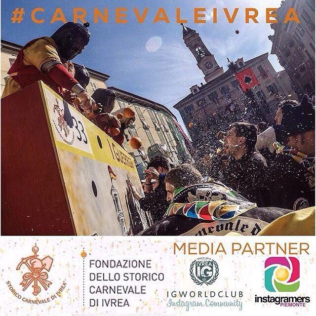 Fotografa o riprendi ogni momento dello Storico Carnevale di Ivrea e condividi le tue immagini su Instagram con il tag #CarnevaleIvrea #igersPiemonte e #ig_ivrea  La giuria composta dalla Fondazione dello Storico Carnevale di Ivrea @igers_piemonte e @ig_ivrea  selezionerà 5 fotografie che verranno premiate con articoli del merchandising ufficiale del Carnevale. Gli scatti più rappresentativi verranno condivisi sul sito ufficiale http://ift.tt/1gPQnfY.  Come partecipare? 1. Segui…