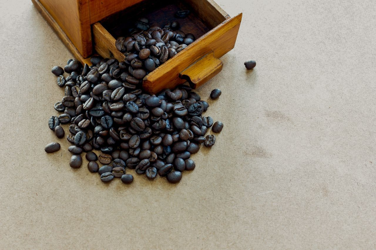Roasted Coffee Bean Food And Drink Indoors No People Large Group Of Objects Freshness Coffee Bean Food Roasted Coffee Beans Coffee Beans Food And Drink