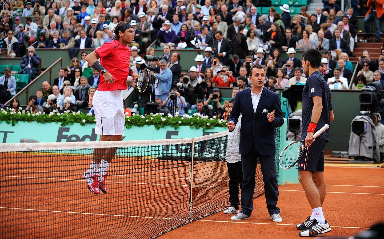 Rafael Nadal V Novak Djokovic Coin Toss For The Men S Final Of Roland Garros 2012 Roland Garros Rafael Nadal Novak Djokovic