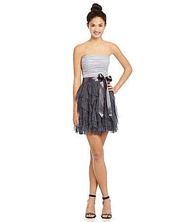 d1bc647414 Teeze Me Colorblock Mesh Corkscrew Dress  Dillards Dress for Sadie ...