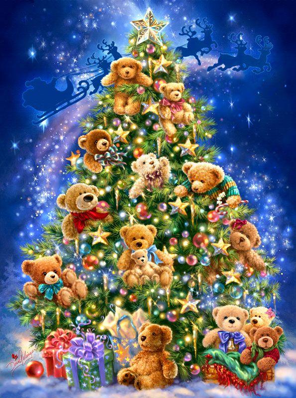 Teddy Bear Tree (artist Dona Gelsinger) chistes Pinterest