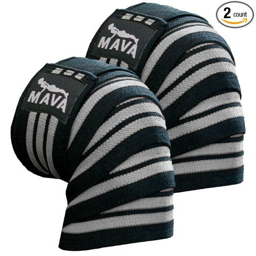 6d70572e53cb6 Mava Sports Knee Wraps (Pair) for Cross Training WODs,Gym  Workout,Weightlifting,Fitness & Powerlifting - Best Knee Straps for Squats  - For Men & Women- ...