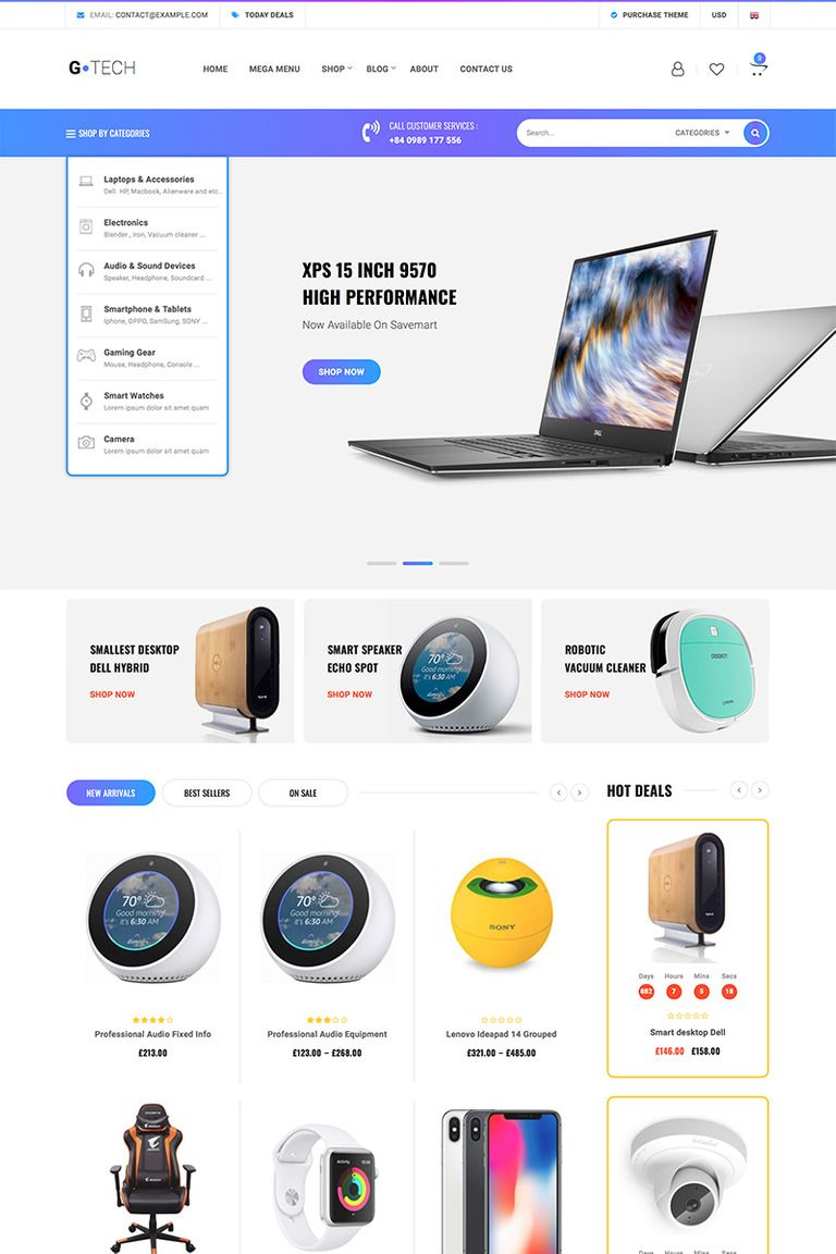 25 Best technology template design for July 2020
