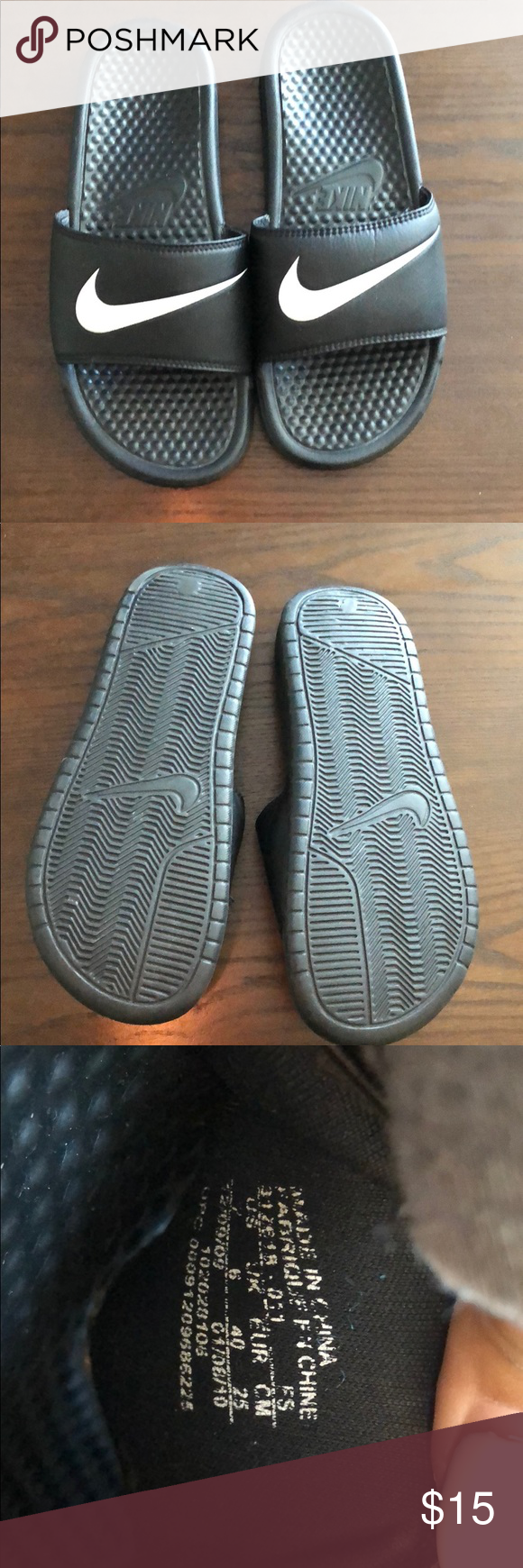 ebdb50fde062 Nike slippers Been stored away. Hardly worn Nike Shoes Slippers