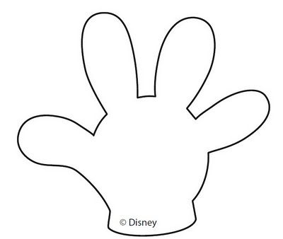 Free Mickey Mouse Hand Template Mickey Mouse Hands Or Gloves Templates Disney