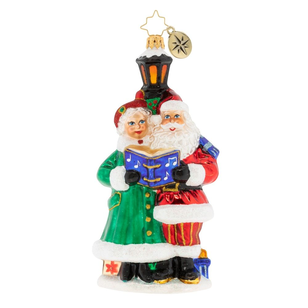 Christopher Radko Ornaments A Couple Of Carolers Ornament 1020118 Classic Christmas Decorations Christopher Radko Ornaments Radko Ornaments