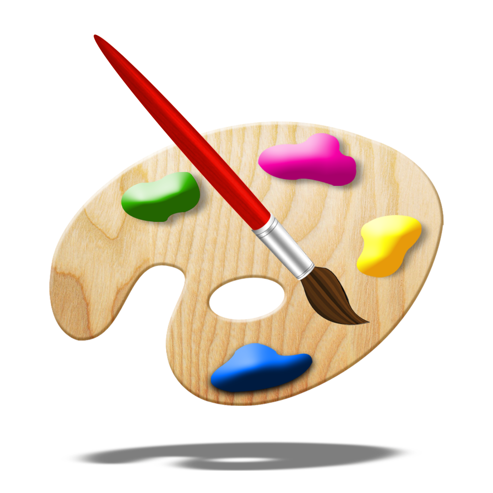 Paint Brush App Icon For iOS App And Android App Mehndi