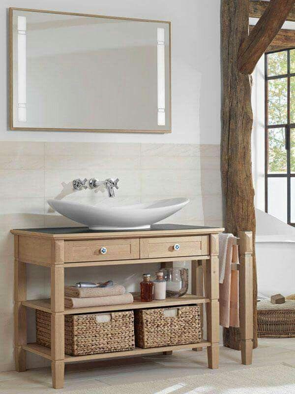 Me encanta esa idea   Muebles de baño rusticos, Muebles ...