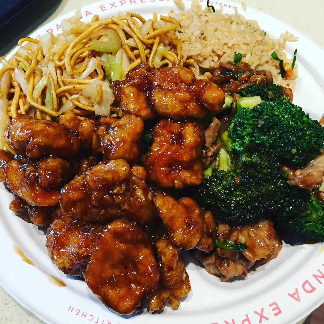 Panda Express Is Now Open In Greenville Finally Pandaexpress Chinesefood Orangechicken Broccolibeef Friedrice Chowmein D Broccoli Beef Chow Mein Food