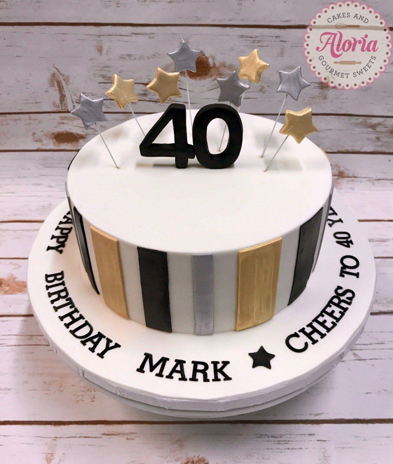 40th Birthday Cakes For Men Fondant Cake Birthday Cake Man