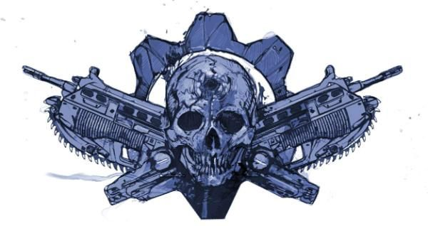 Gears Of War Cross End Lancers Marcus Fenix Tattoo Arte Con Calaveras Mexicanas Dibujos Guerrero Azteca