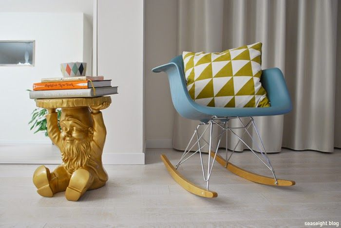 Seaseight design blog new house kartell gnomo attila starck gold
