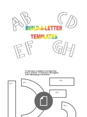 Handwriting Without Tears Build A Letter Template Molding Little