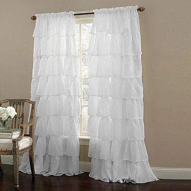 sheer curtains shades living room solid colored polyester rideaux pinterest vorh nge. Black Bedroom Furniture Sets. Home Design Ideas